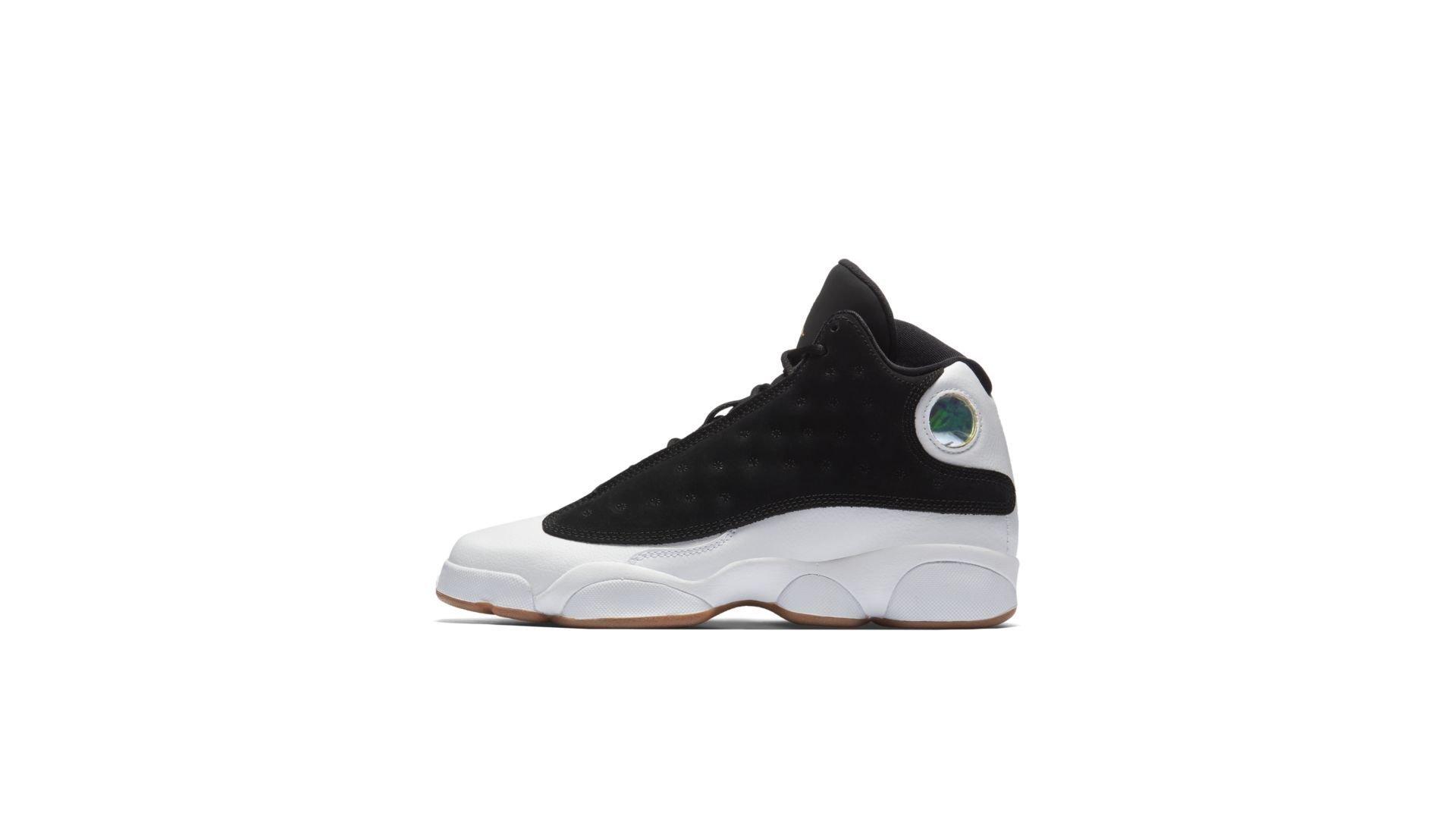 Jordan 13 Retro Black White Gum (GS) (439358-021)
