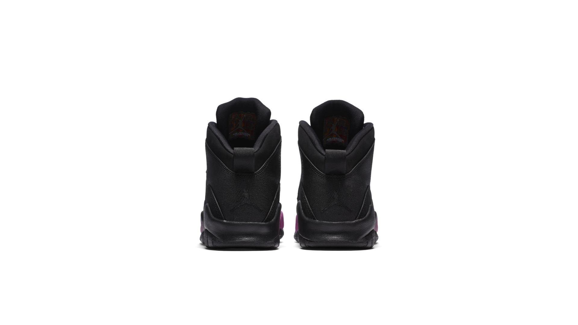 Jordan 10 Retro Black Fuchsia Black (GS) (487211-017)