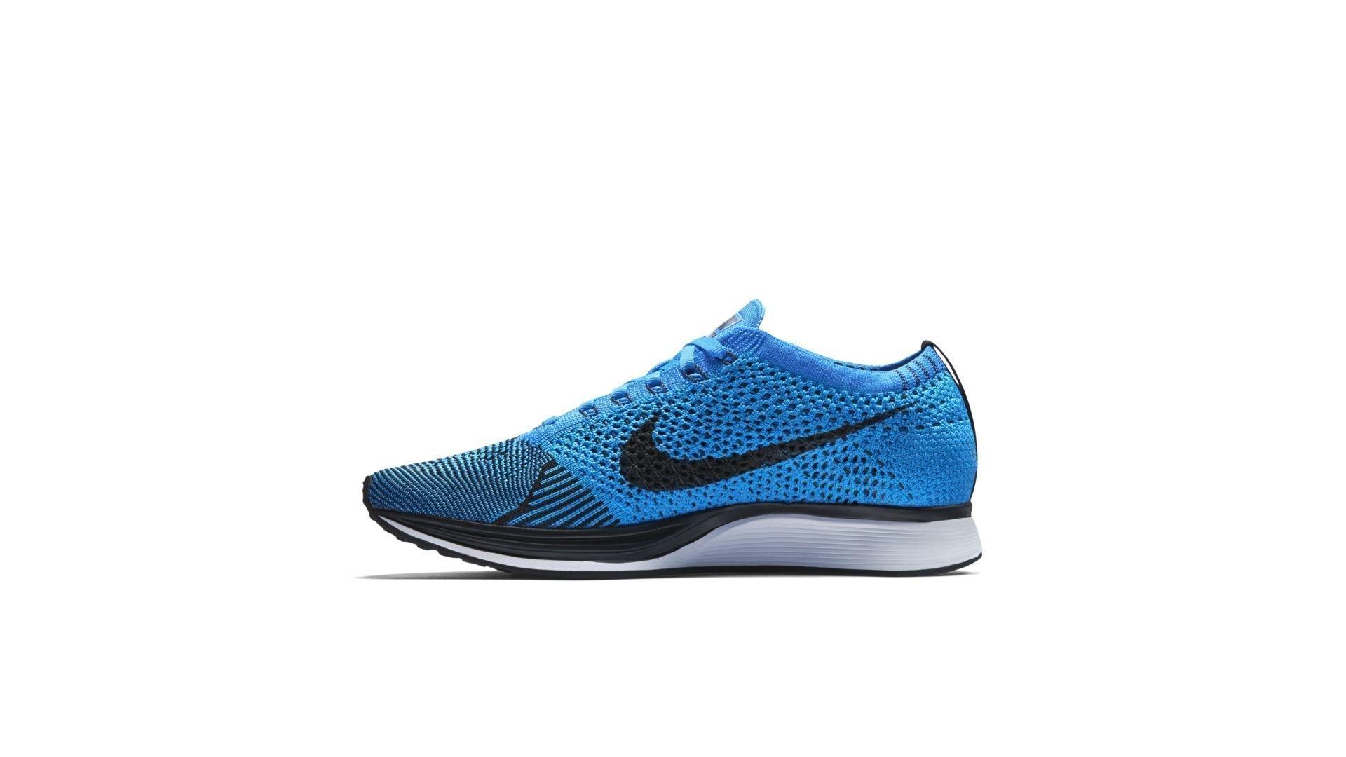 Nike Flyknit Racer Black Photo Blue (526628-001)