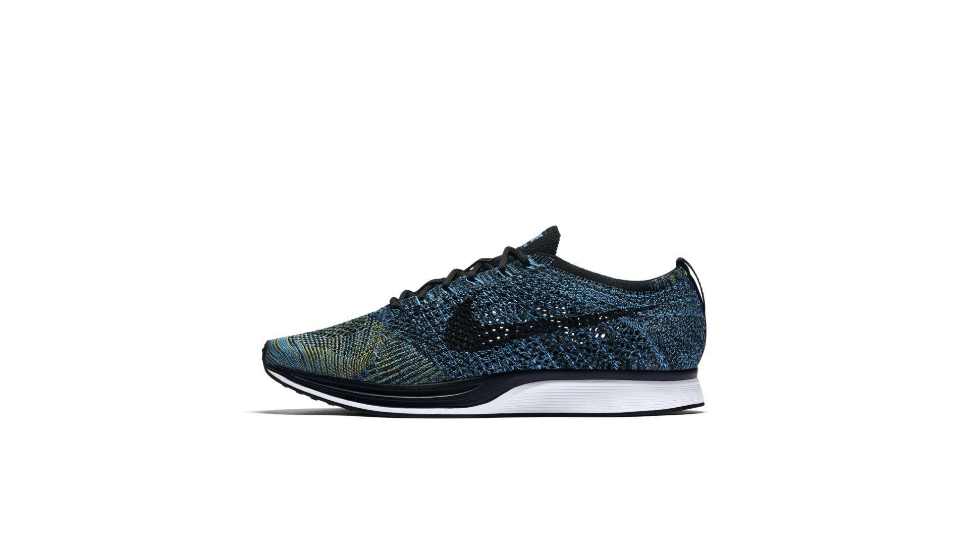 Nike Flyknit Racer Blue Glow Yellow Strike (526628-405)