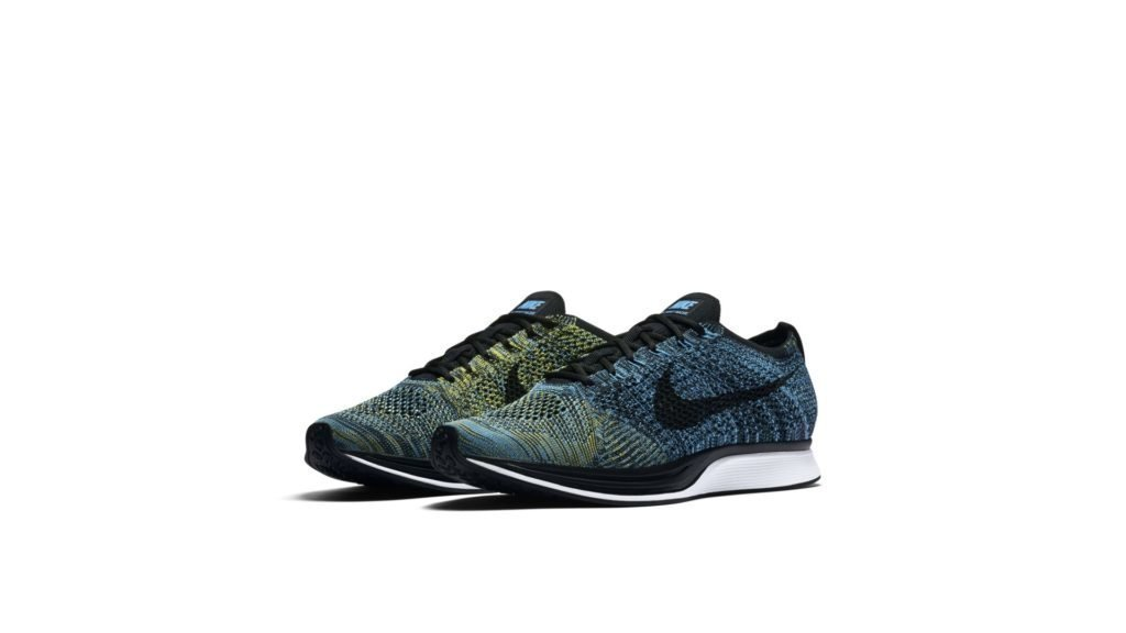 Flyknit Racer Blue Glow Yellow Strike