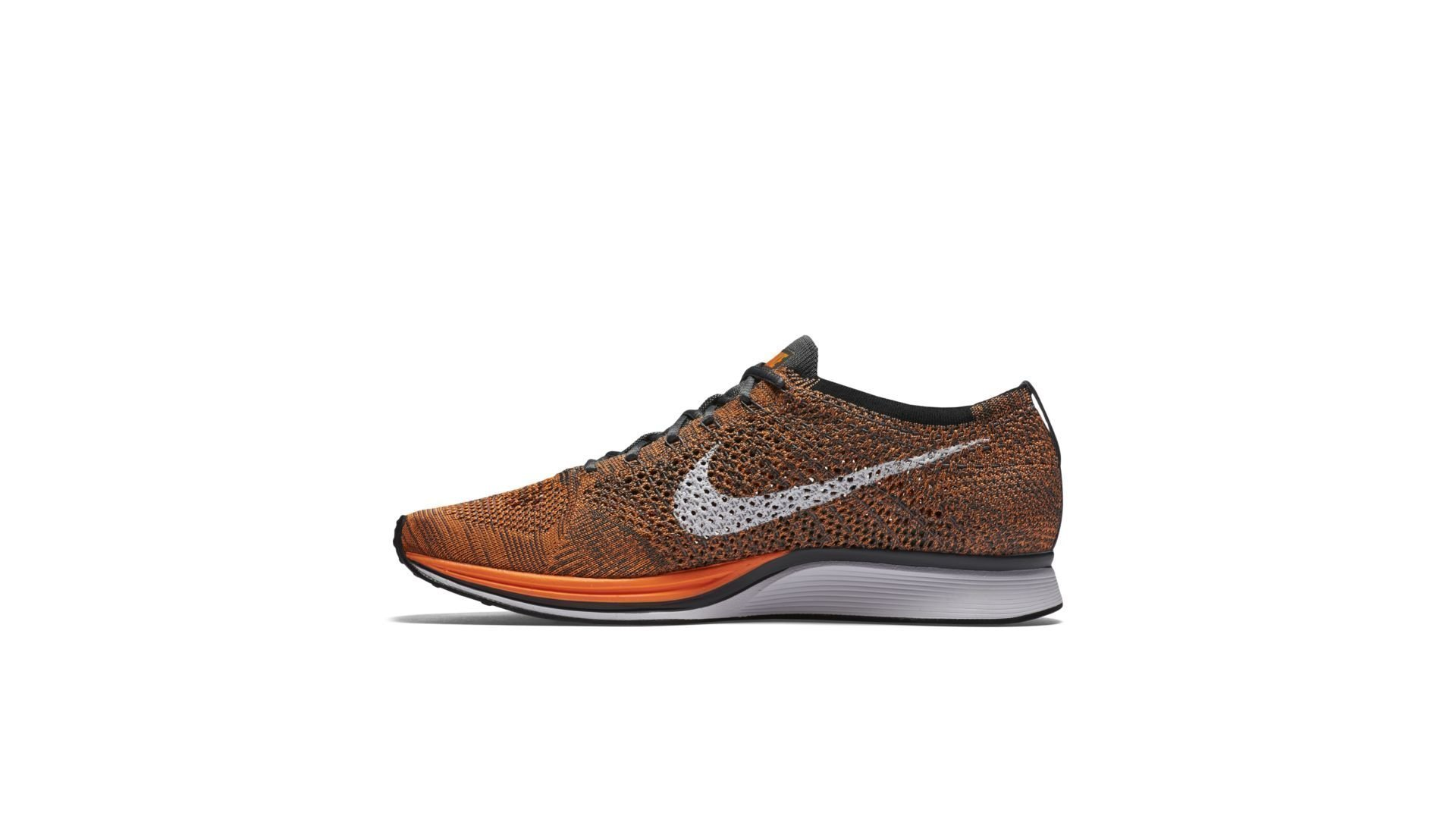 Nike Flyknit Racer Orange Dark Grey (2016) (526628-810)