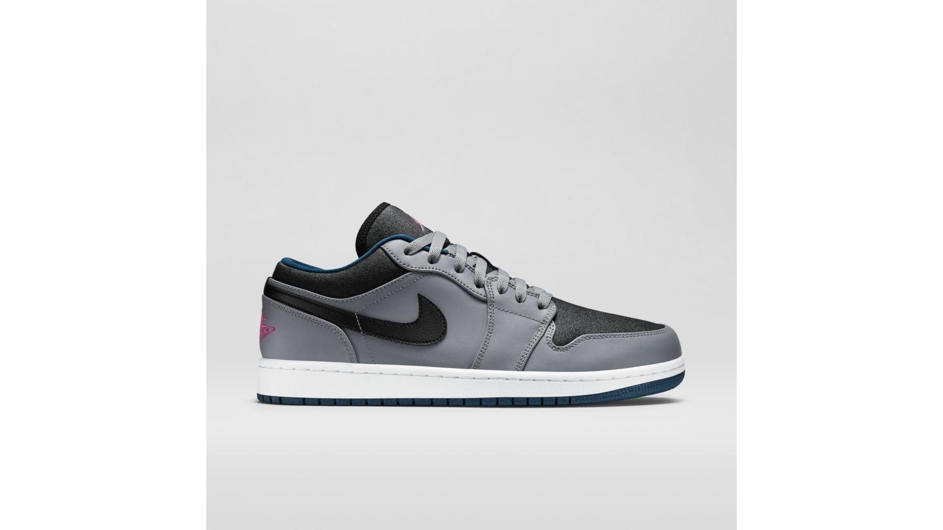 Jordan 1 Low Cool Grey Fusion Pink Space Blue (553558-018)