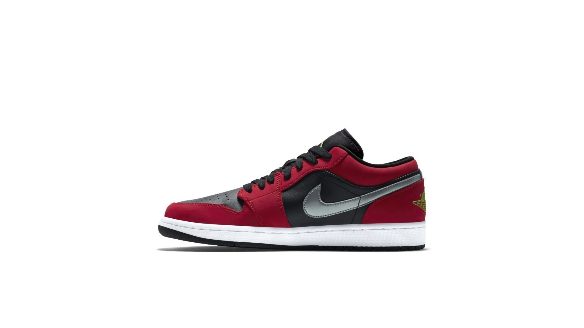 Jordan 1 Low Black Green Pulse Gym Red (553558-036)