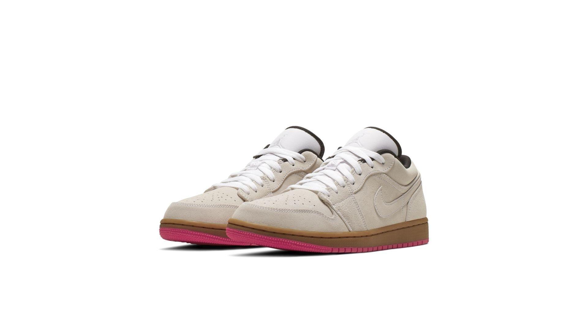 Jordan 1 Low White Gum Hyper Pink (553558-119)
