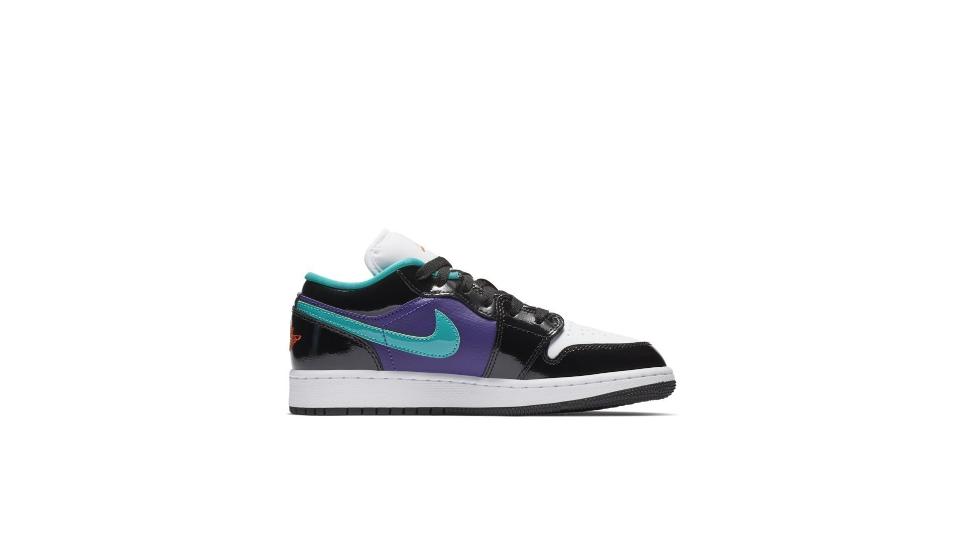 Jordan 1 Low Black Court Purple Turbo Green (GS) (553560-035)