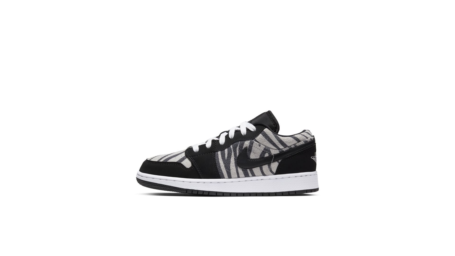 Jordan 1 Low Zebra (GS) (553560-057)