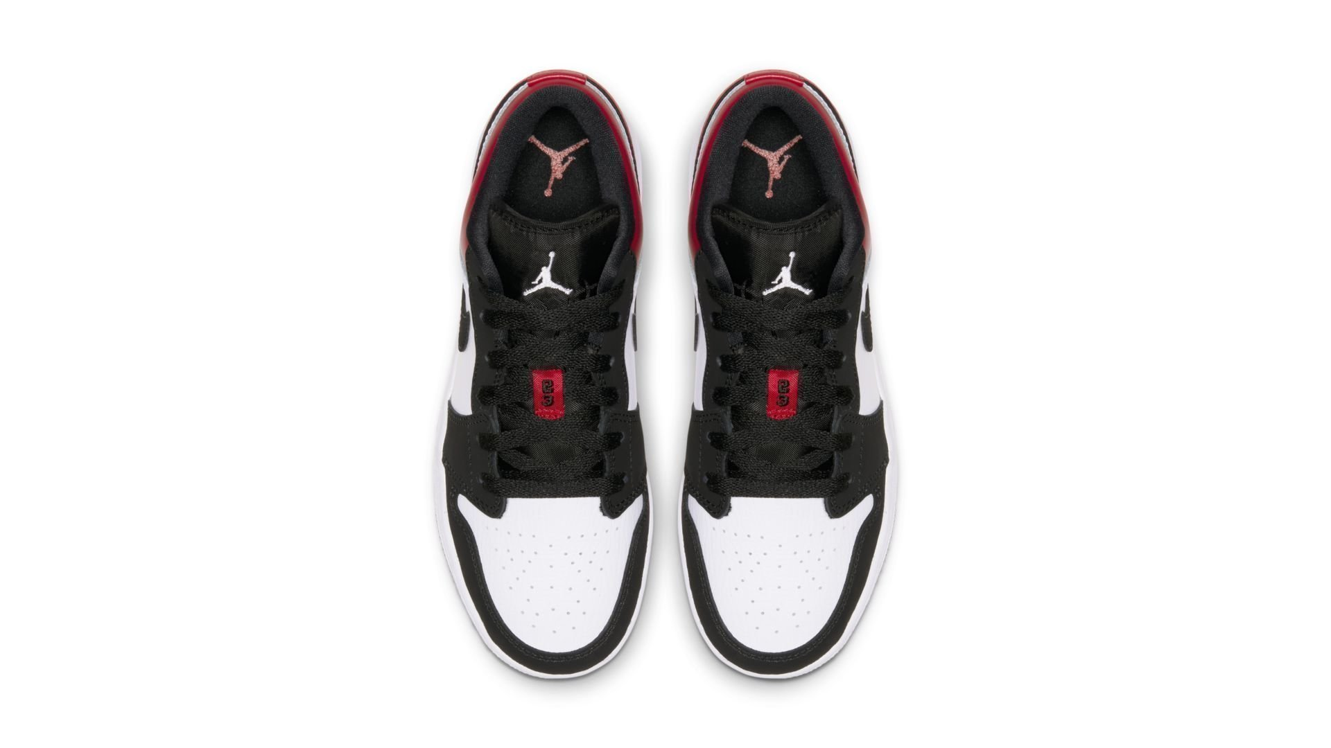 Jordan 1 Low Black Toe (GS) (553560-116)