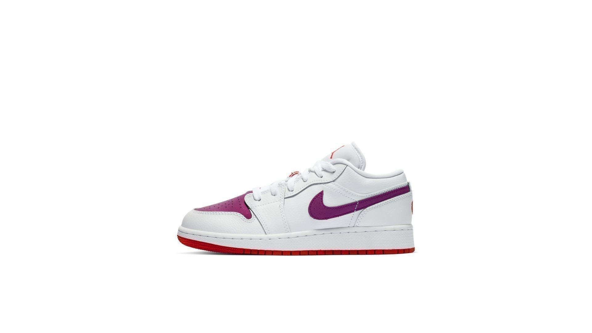 Jordan 1 Low White True Berry (GS) (554723-161)