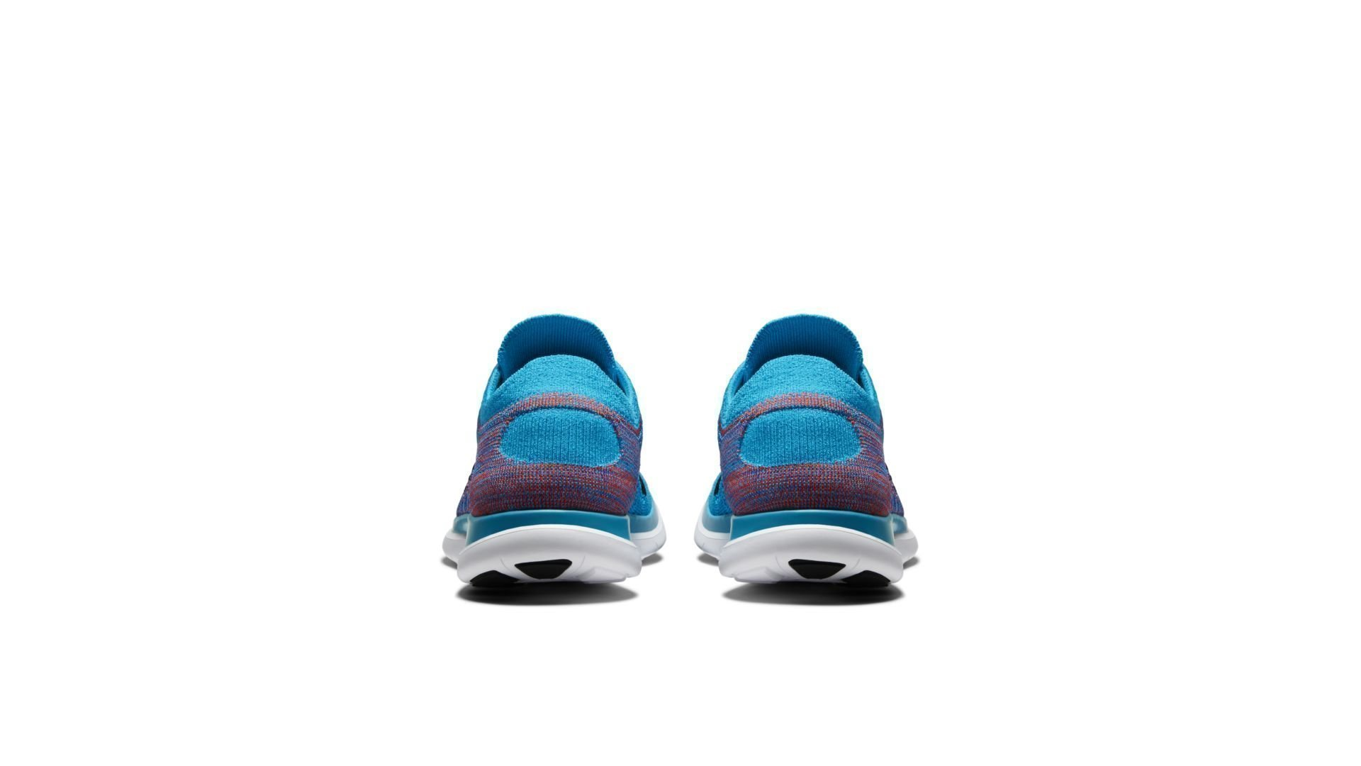Nike Free 4.0 Flyknit Blue Lagoon Bright Crimson (631053 403)