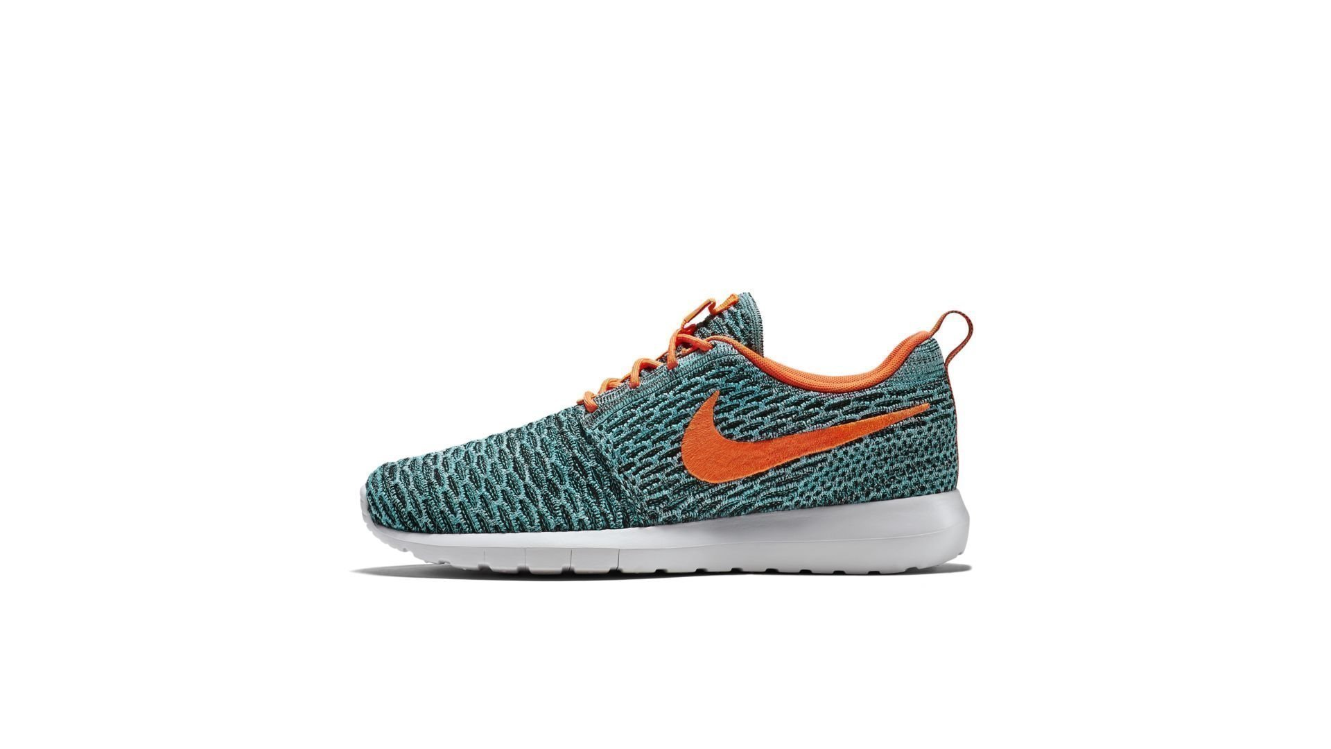 Nike Roshe NM Flyknit Hyper Jade Total Orange (W) (677243-009)