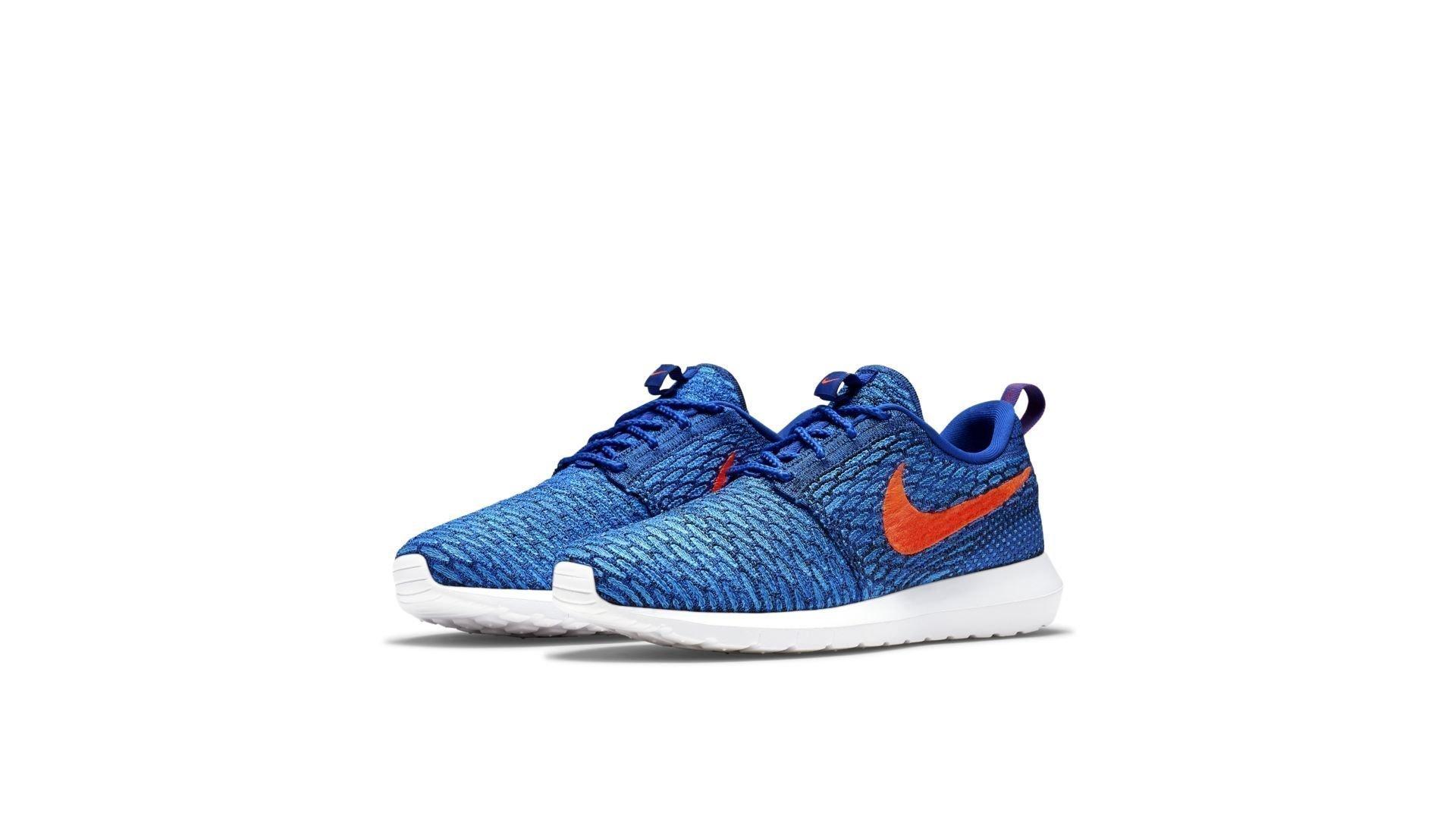 Nike Roshe Run Flyknit Game Royal Bright Crimson (677243-401)