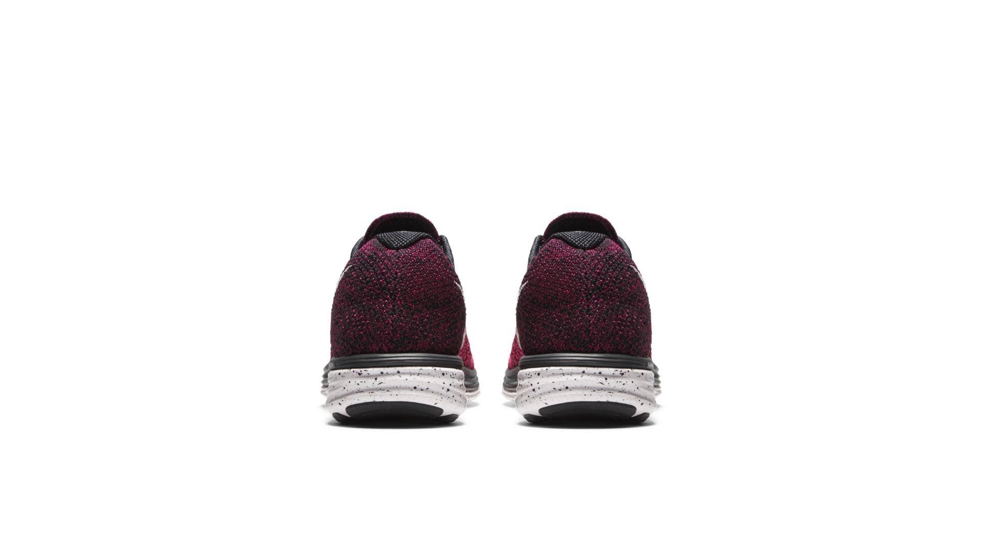 Nike Flyknit Lunar3 Black Pink Orange (W) (698182-002)