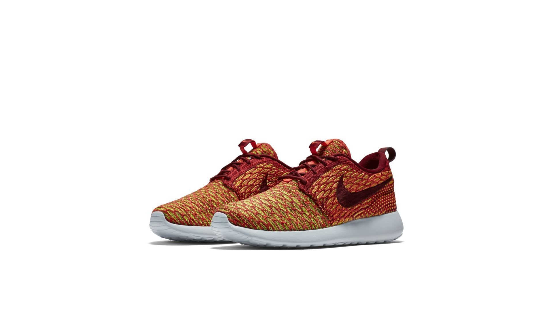 Nike Roshe One Flyknit Team Red Bright Crimson Volt (W) (704927-600)