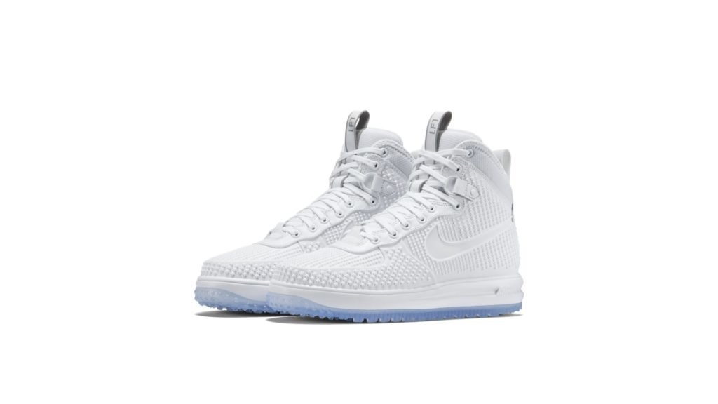 Lunar Force 1 Duckboot All White