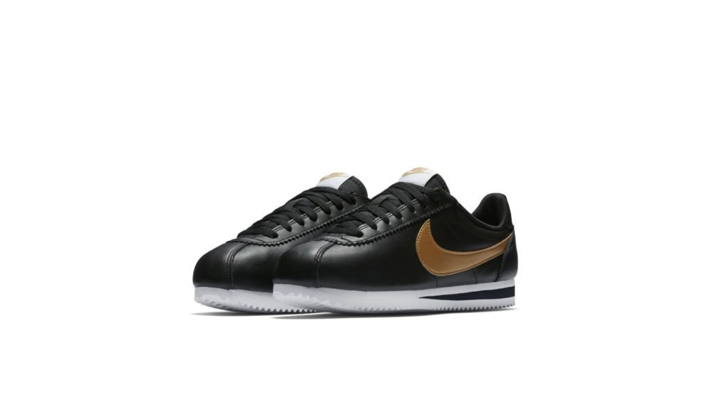 Nike Cortez Leather Black Gold (W)