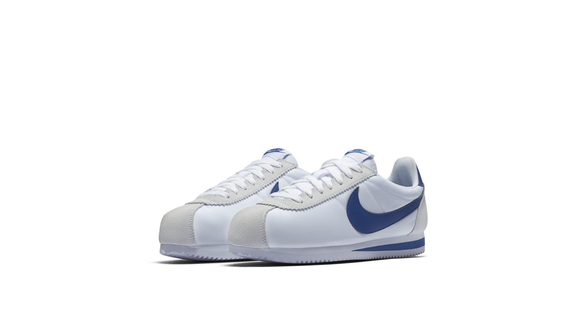 Nike Classic Cortez Nylon White Gym Blue (807472-102)