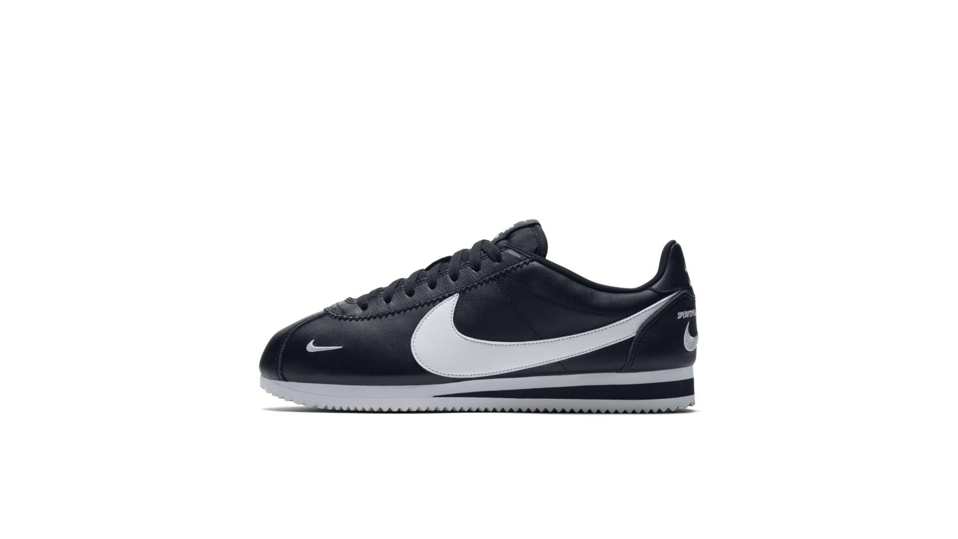 Nike Classic Cortez Mini Swoosh Black White (807480-004)