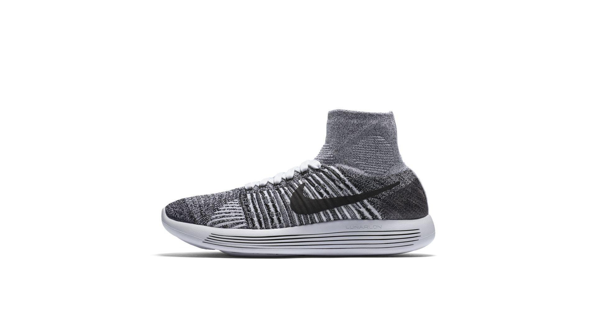 Nike Lunarepic Flyknit White Black (W) (818677-101)