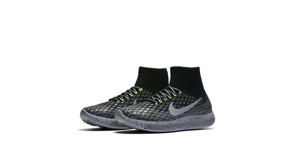 Nike Lunarepic Flyknit Shield Black Silver Volt (W)