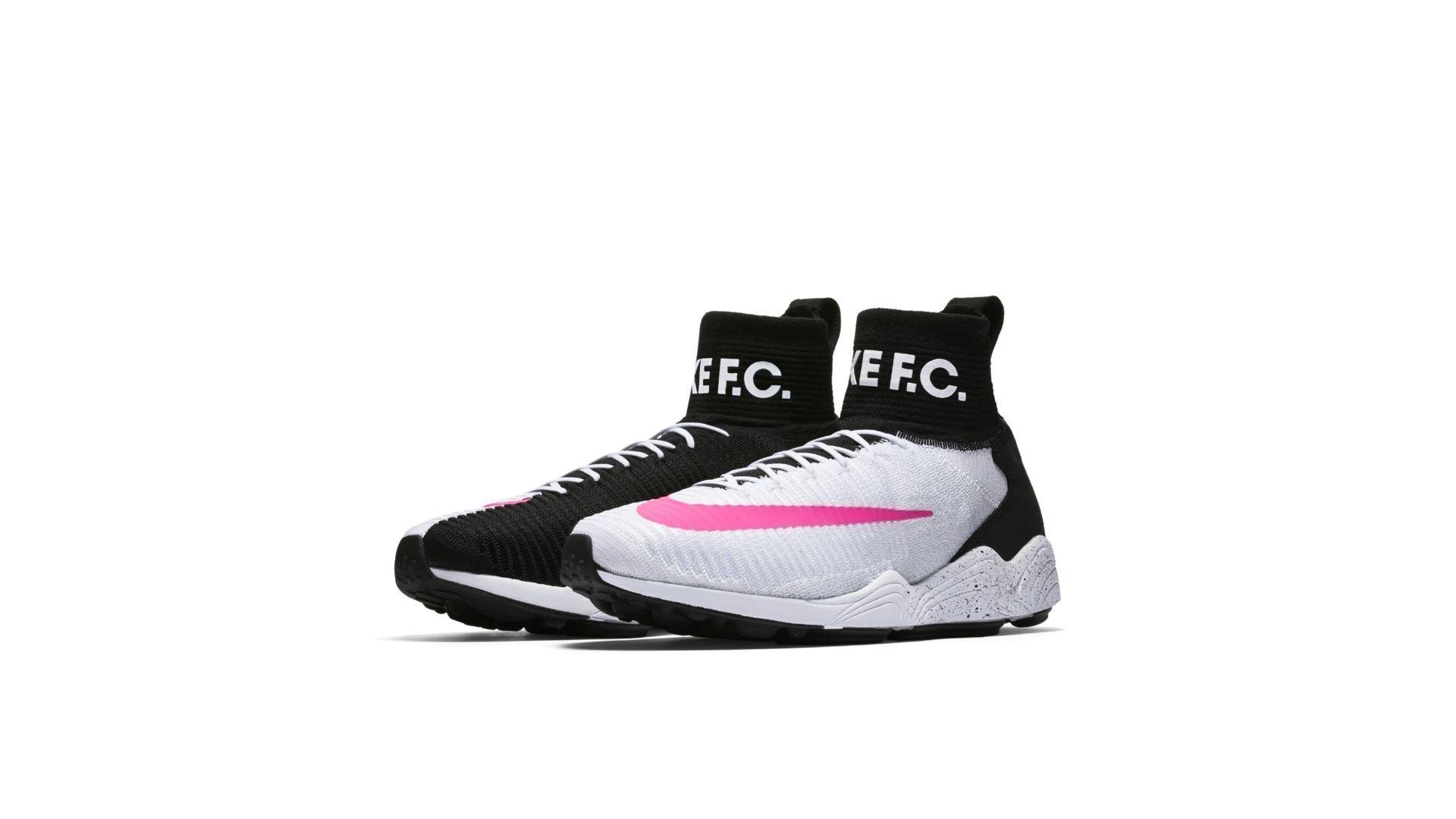 Nike Mercurial Flyknit FC White Black Pink Blast (852616-100)
