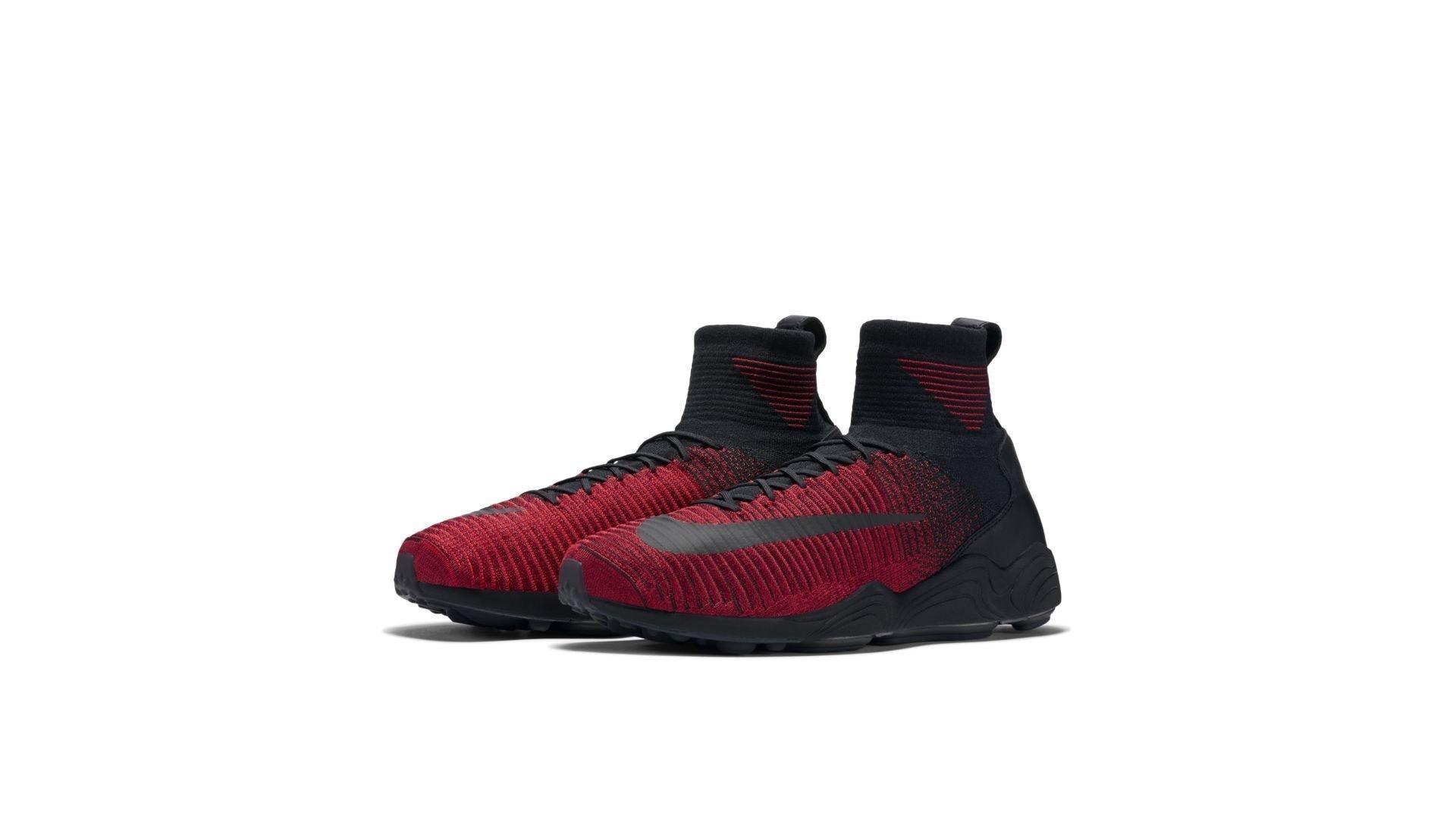 Nike Mercurial XI Flyknit University Red Black (852616-600)