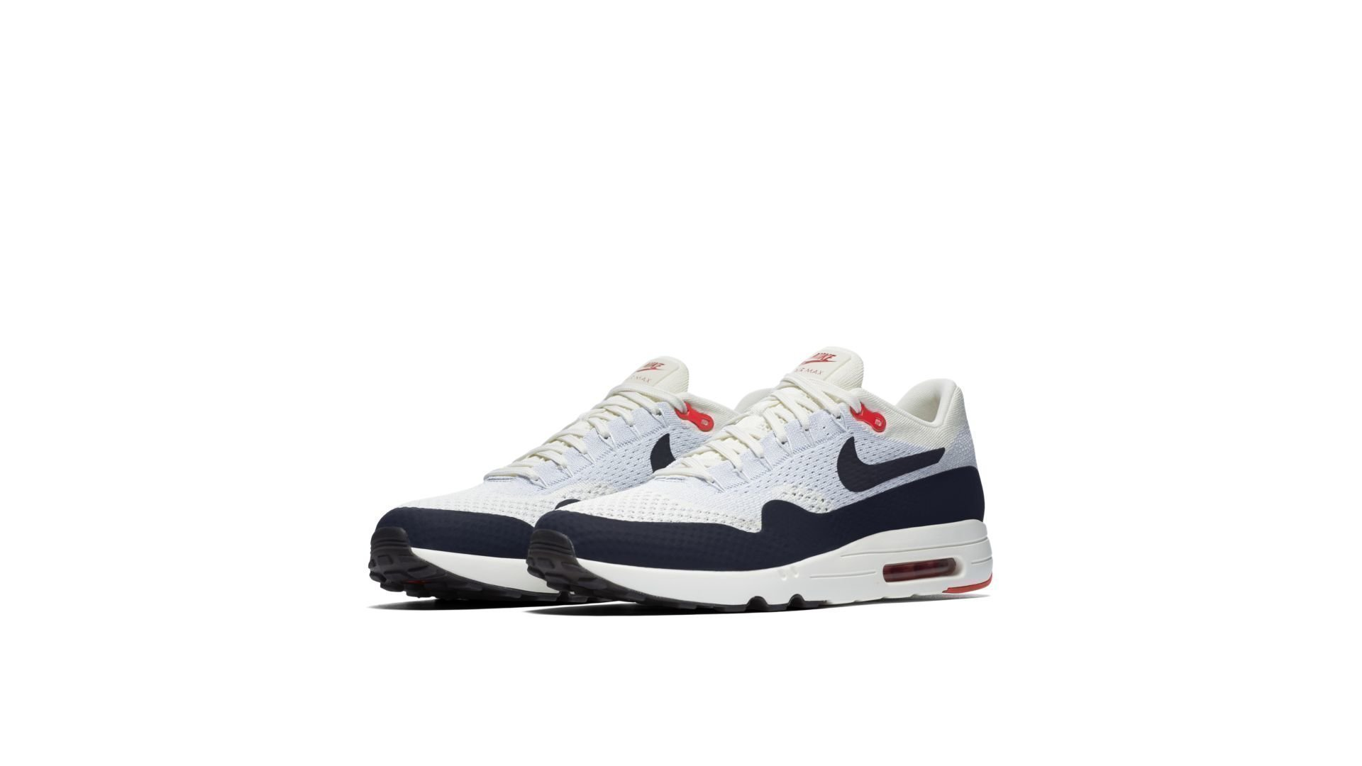 Sneakers Nike Air Max 1 Ultra 2.0 Flyknit sail obsidian wolf grey 875942 100