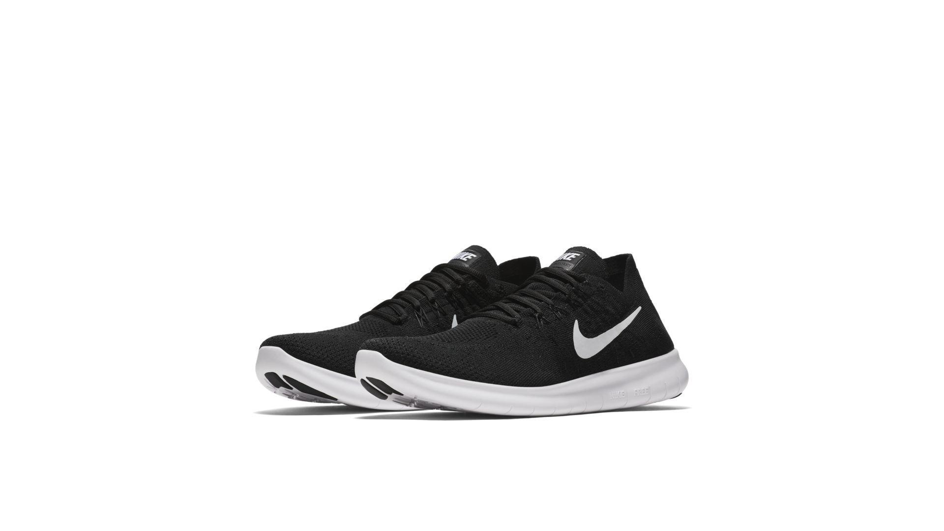 Nike Free RN Flyknit 2017 Black White (880843-001)