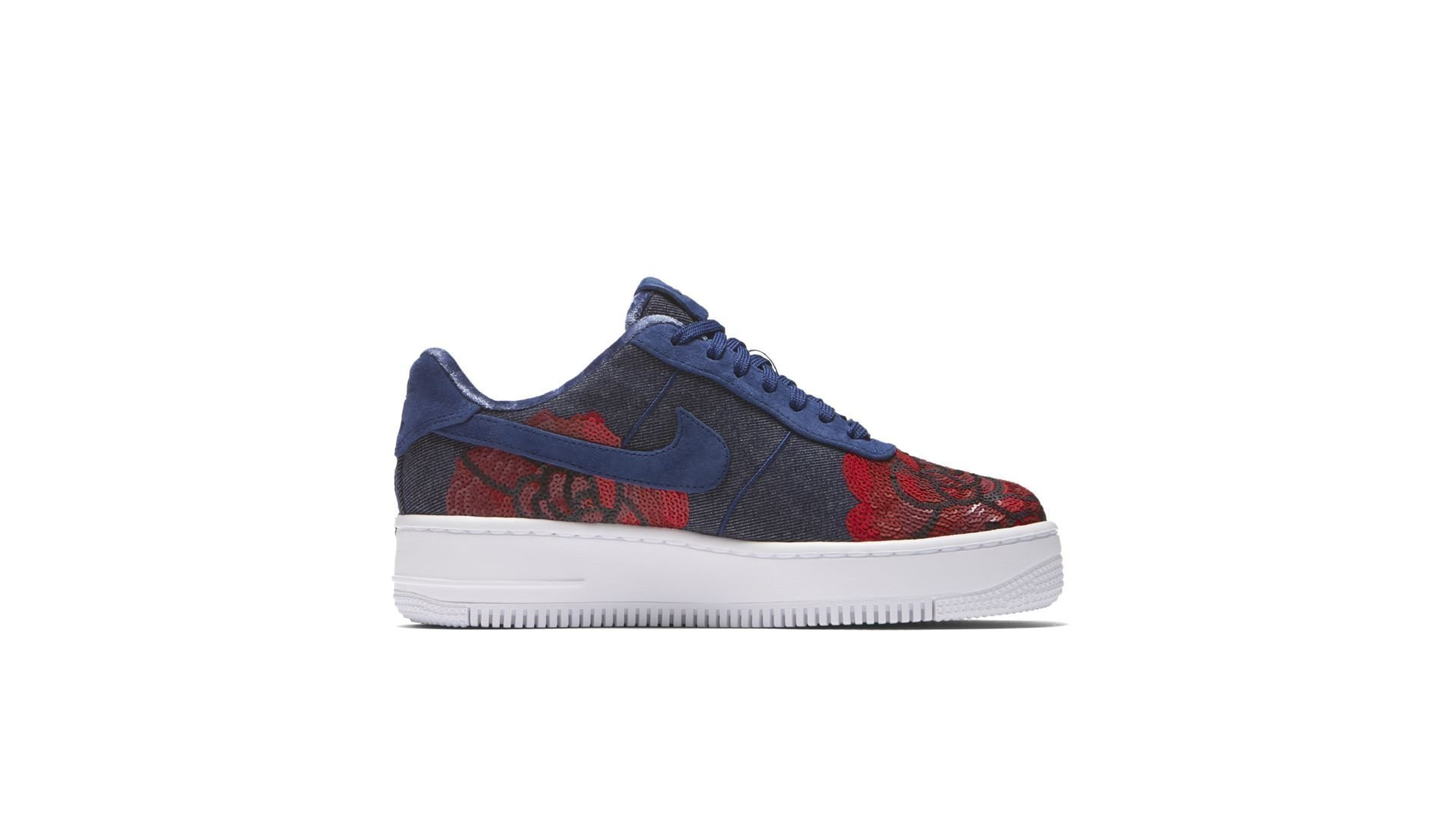 Nike Air Force 1 Upstep Low Denim Rose Blue (W) (898421-401)