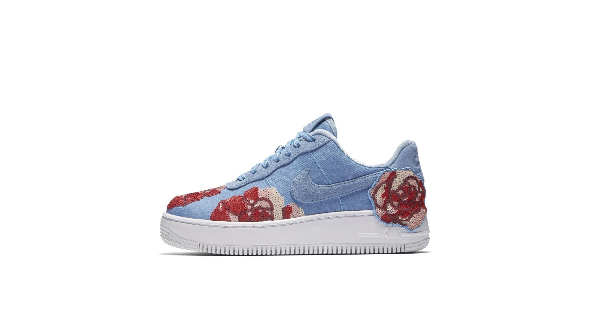 Nike Air Force 1 Upstep Low Denim Rose Sky (W) (898421-402)