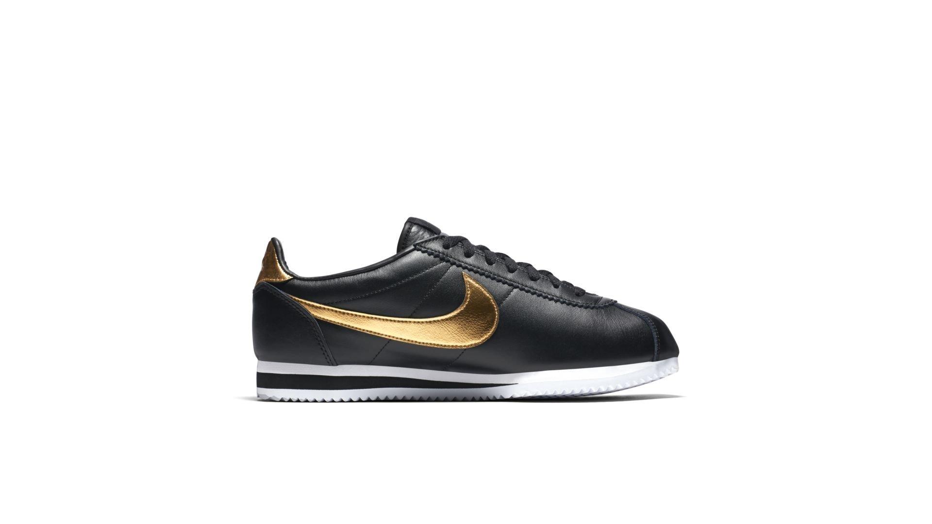 Nike Classic Cortez Black Metallic Gold (902801-002)