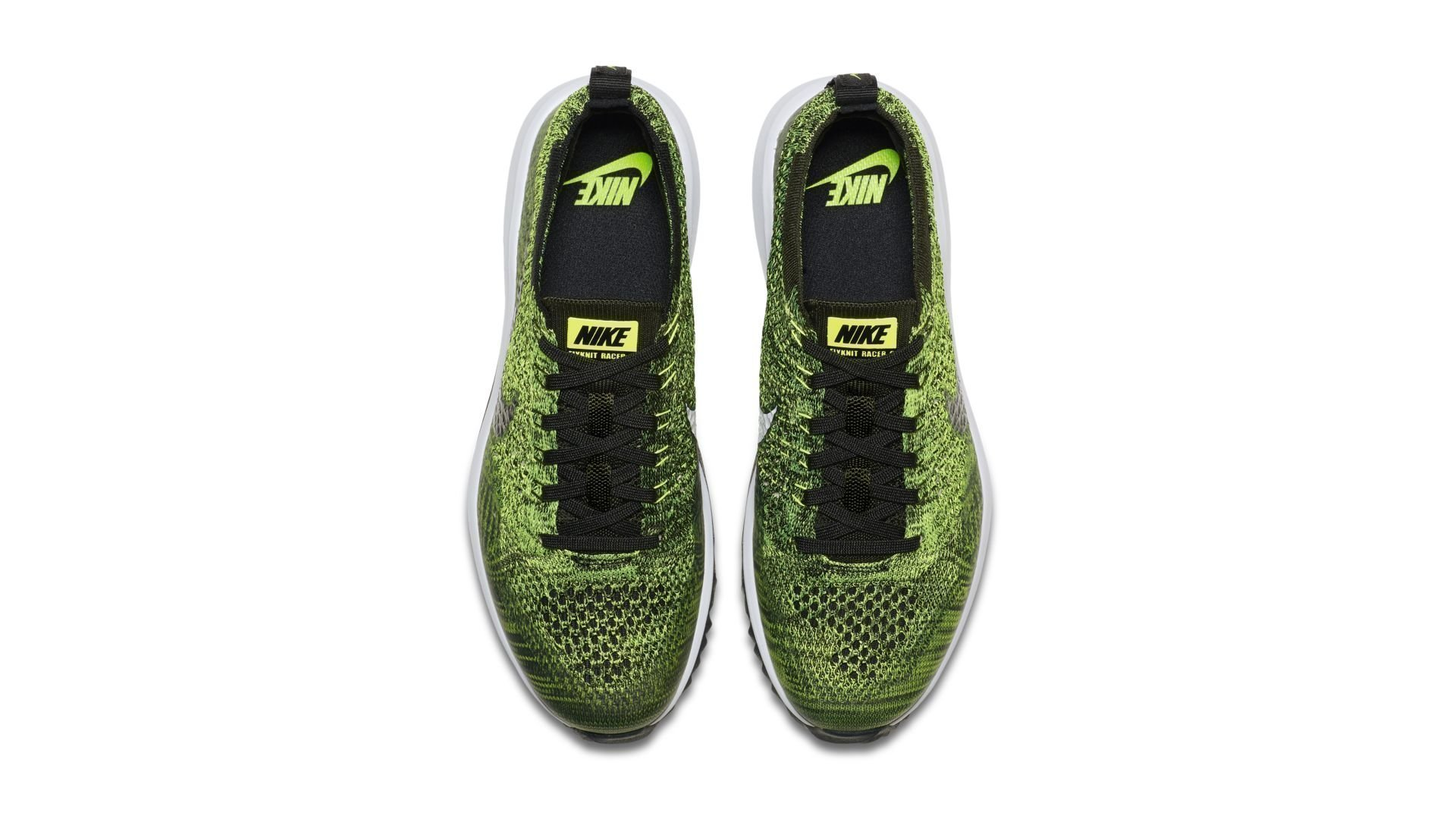 Nike Flyknit Racer G Volt Sequoia Black (W) (909769-700)
