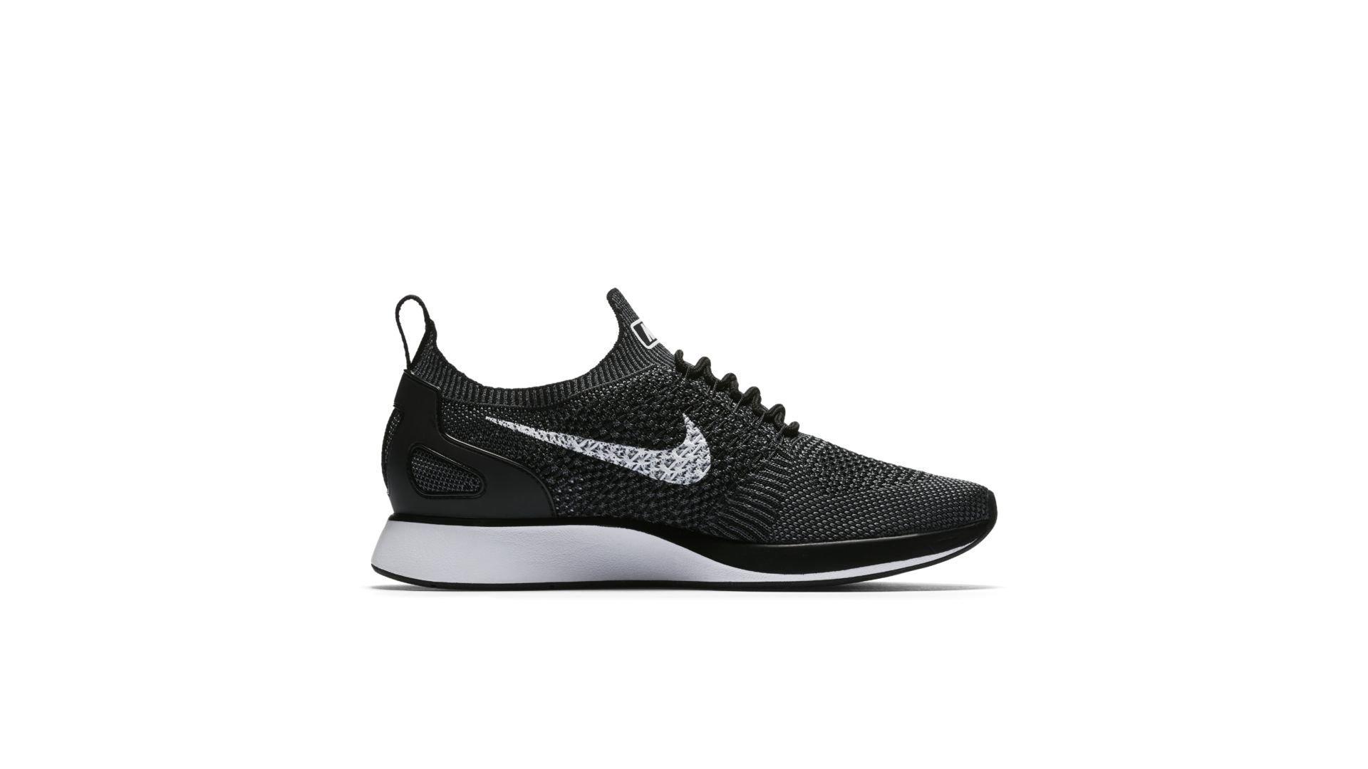 Nike Mariah Flyknit Racer Black White (W) (917658-002)