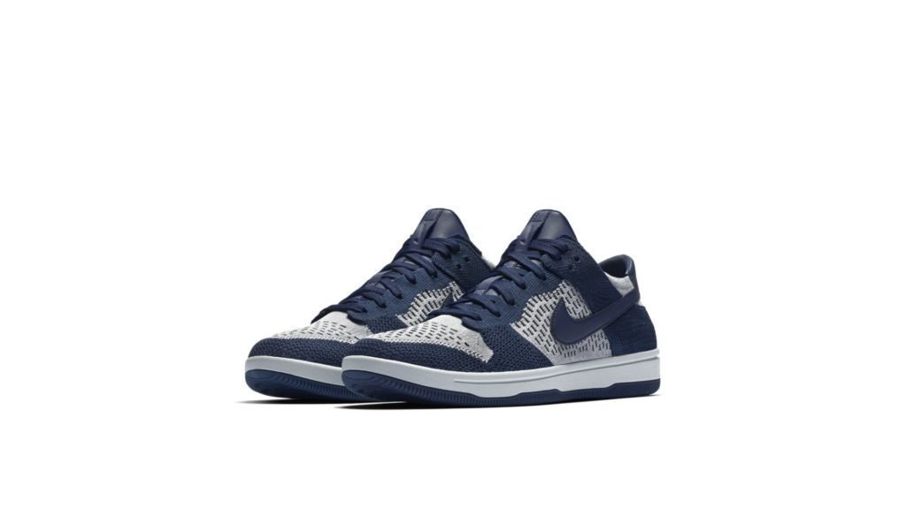 Nike Dunk Low Flyknit College Navy Pure Platinum