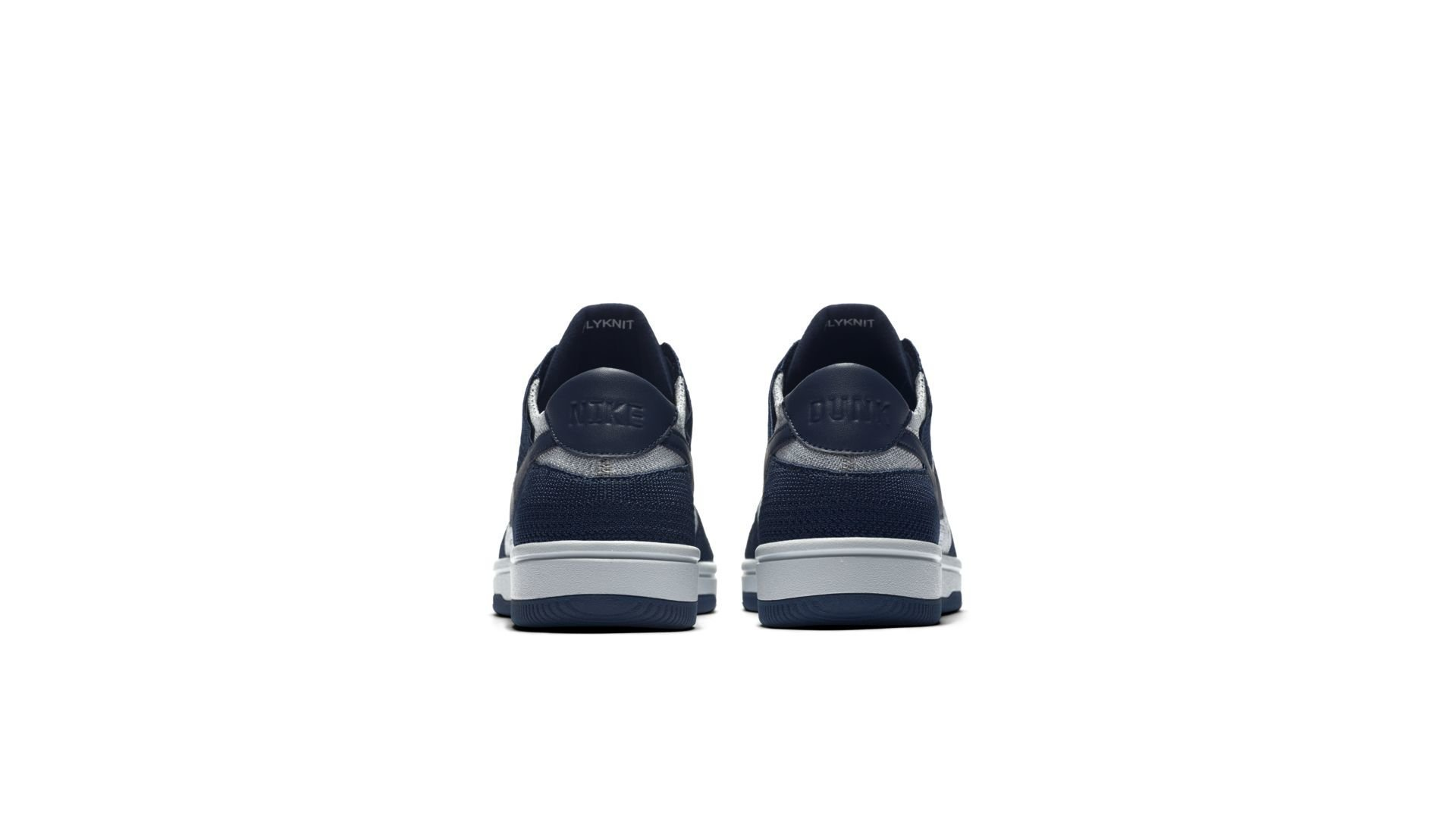 Nike Dunk Low Flyknit College Navy Pure Platinum (917746-400)