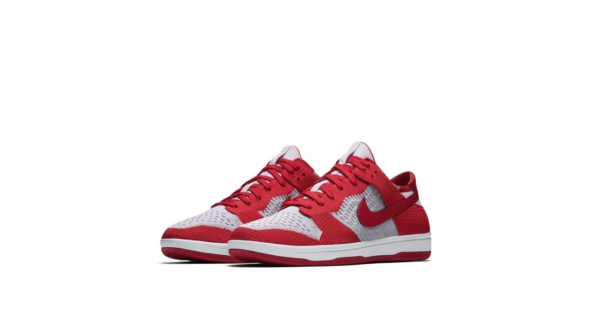 Nike Dunk Low Flyknit University Red Wolf Grey (917746-600)