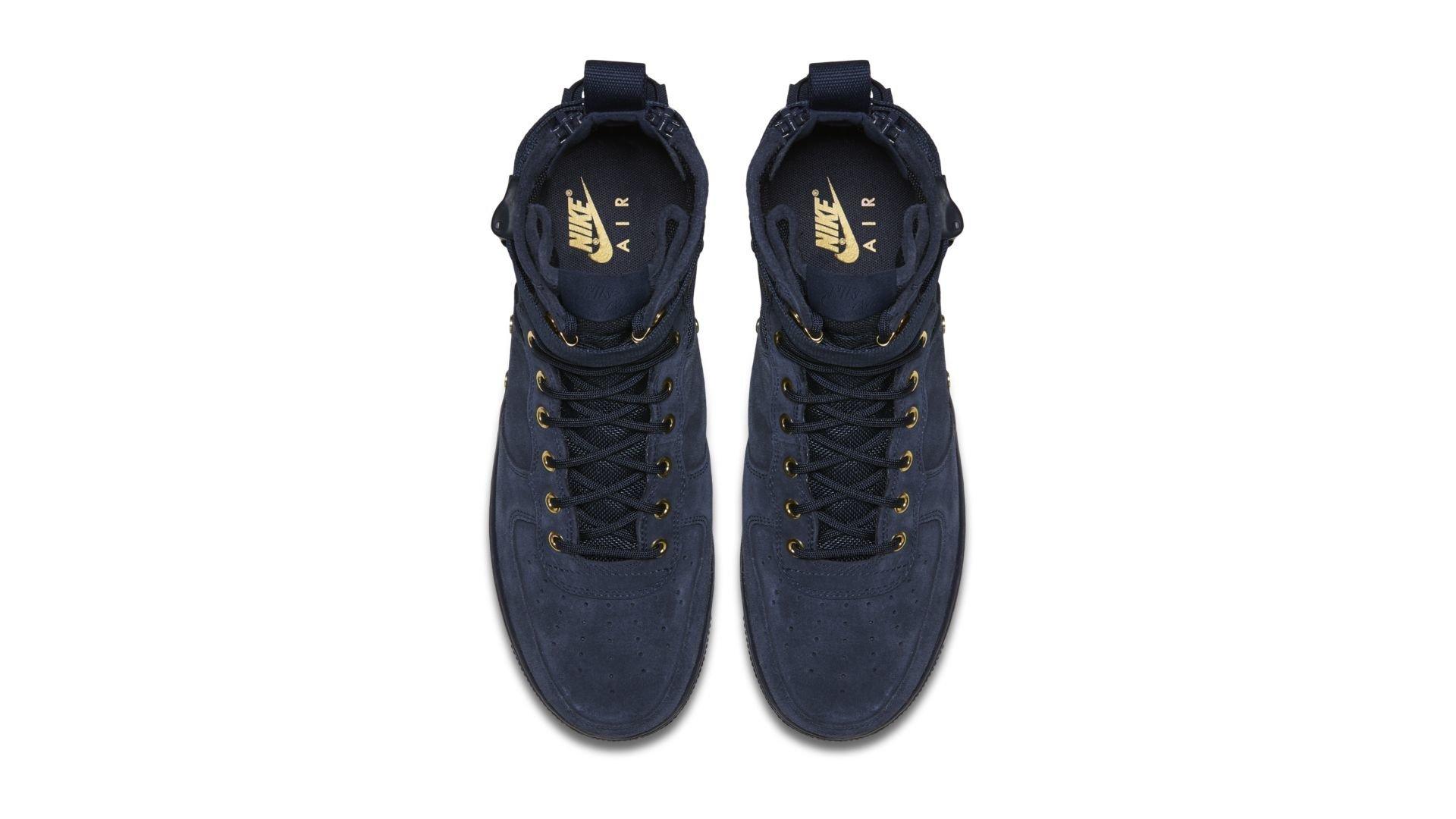 Nike SF Air Force 1 Mid Obsidian Metallic Gold (917753 400)