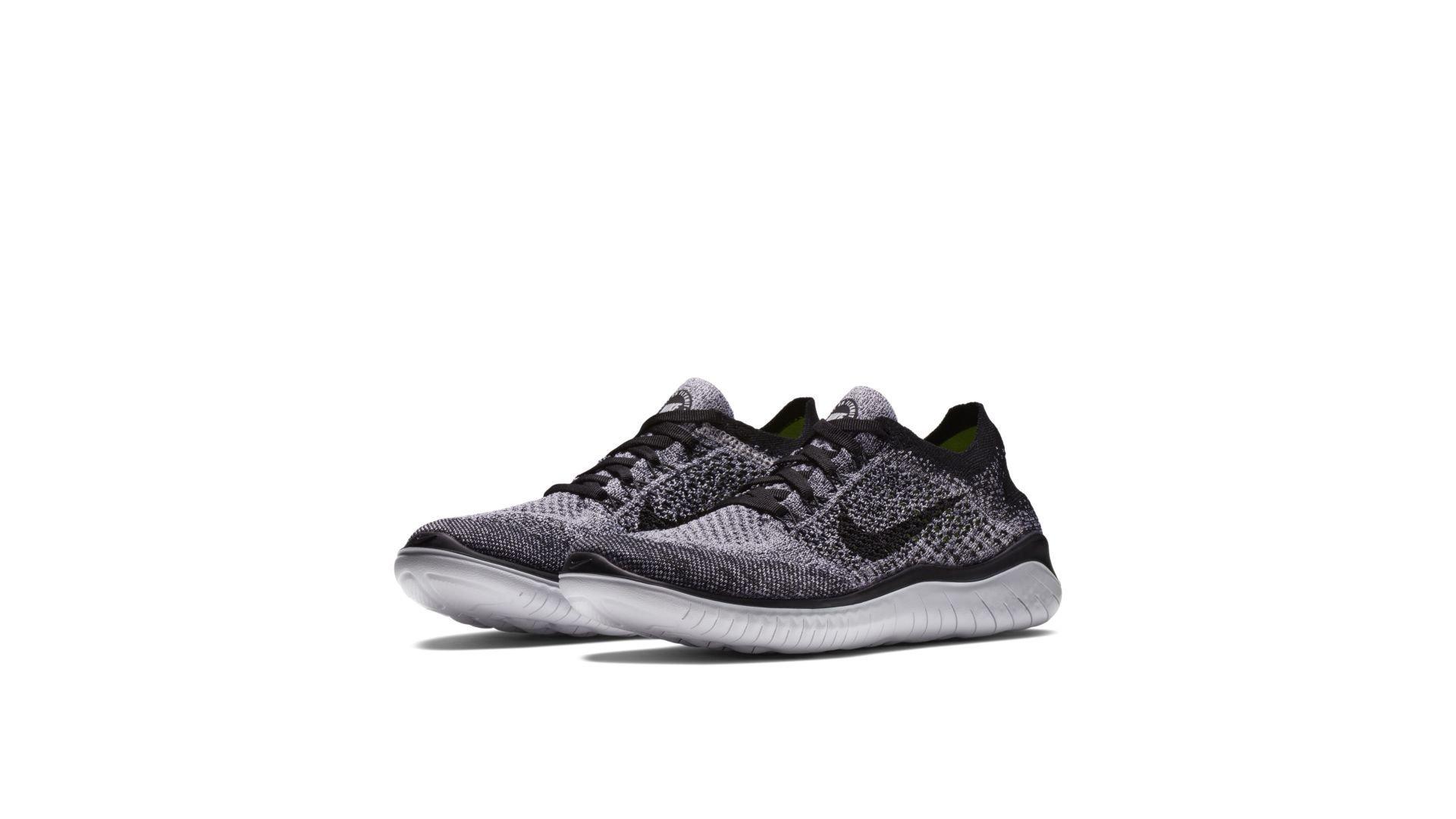 Nike Free RN Flyknit 2018 Oreo (W) (942839-101)