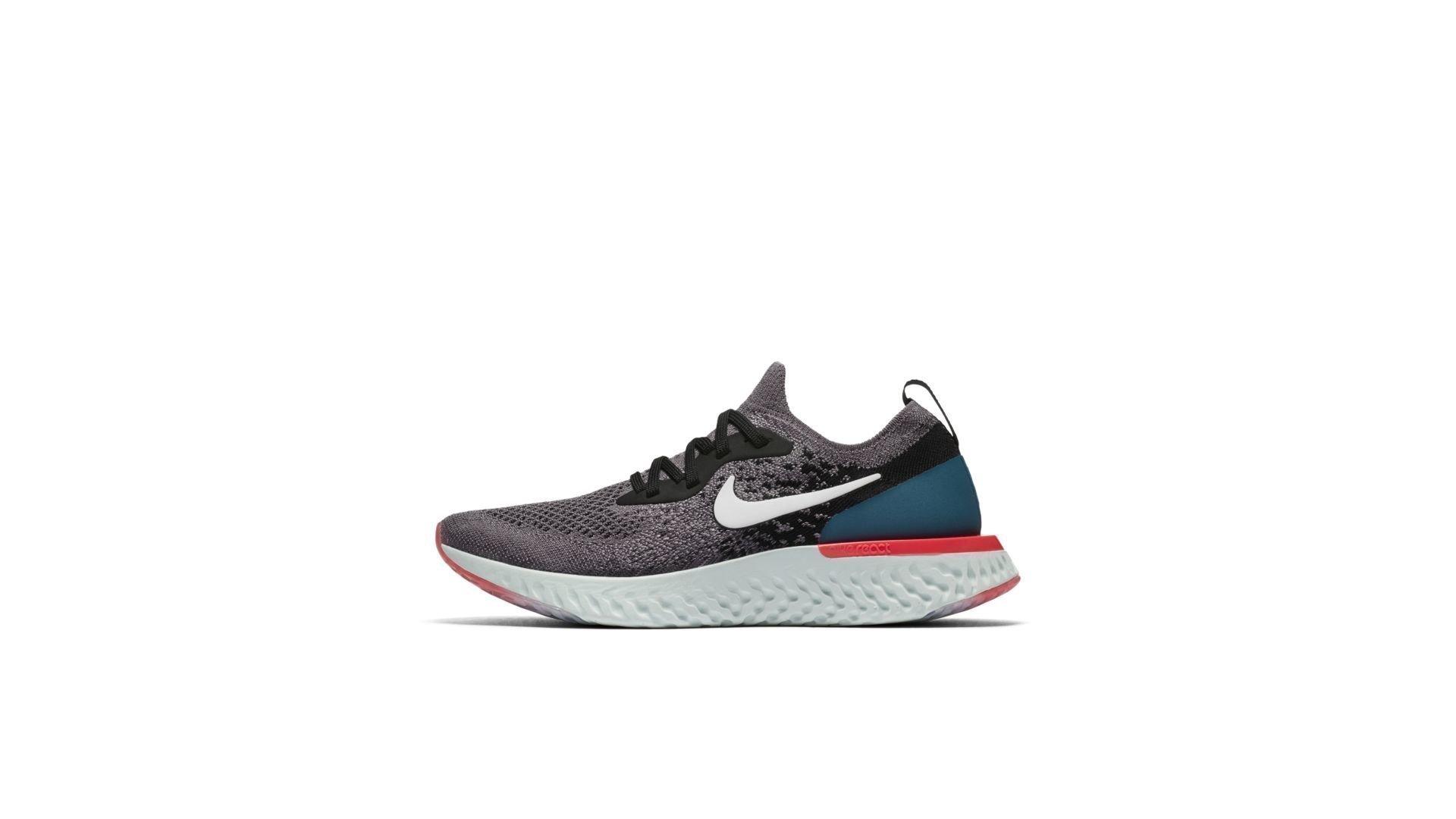 Nike Epic React Flyknit Gunsmoke Black Geode Teal (GS) (943311-010)
