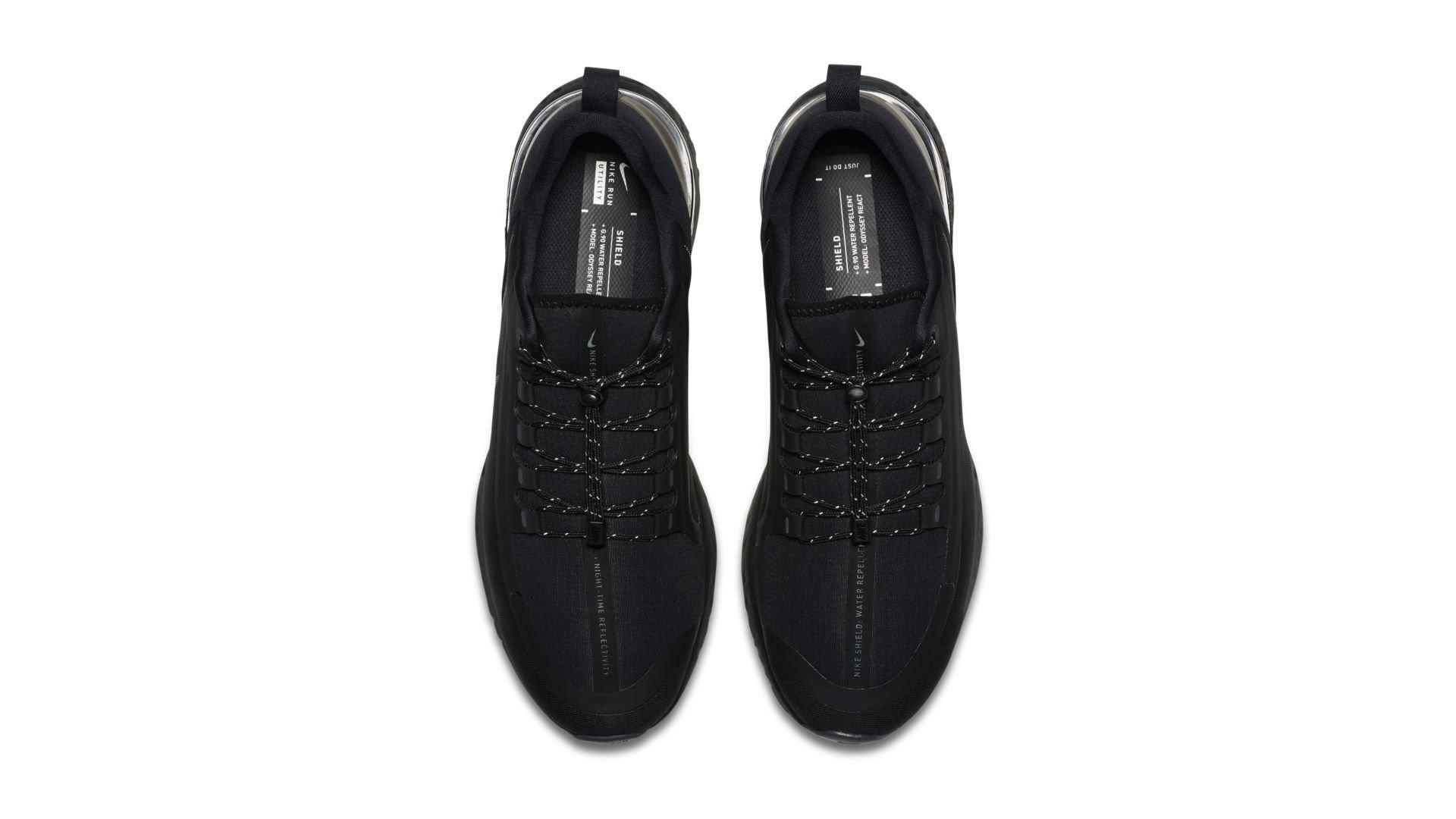 Nike Odyssey React Shield Triple Black (AA1634-001)