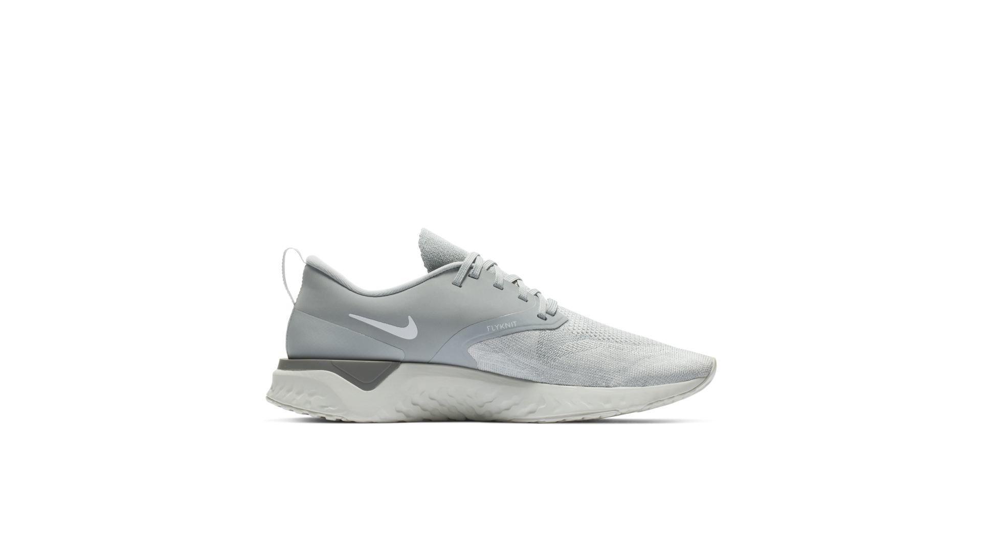 Nike Odyssey React 2 Flyknit Wolf Grey White (AH1015-001)