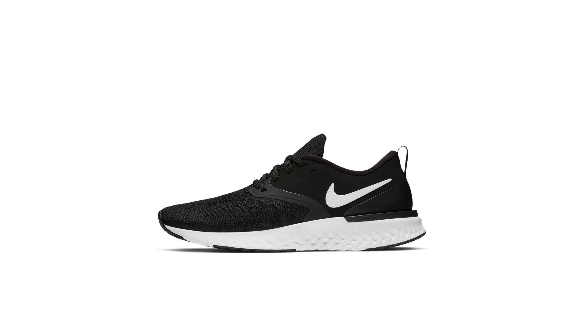 Nike Odyssey React 2 Flyknit Black White (W) (AH1016-010)