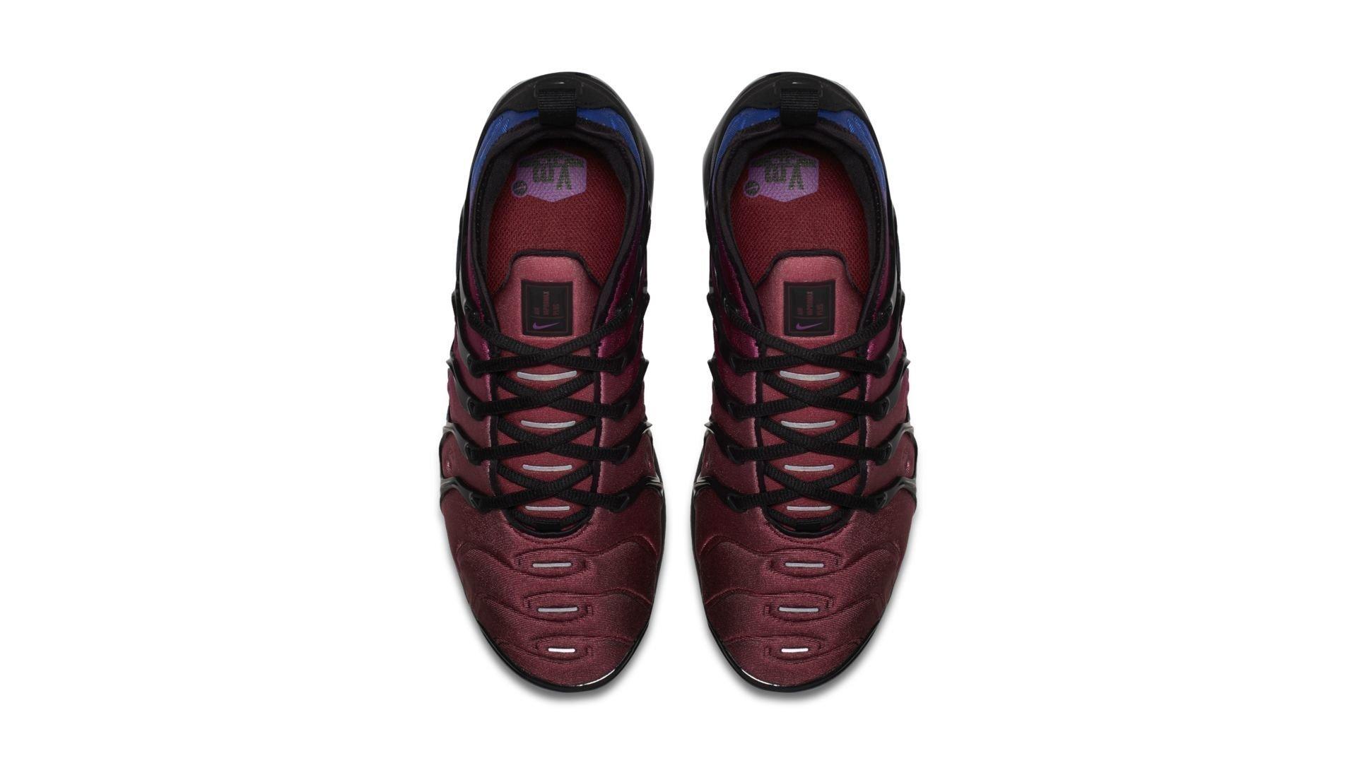 Nike Air VaporMax Plus Black Team Red Hyper Violet (W) (AO4550-001)