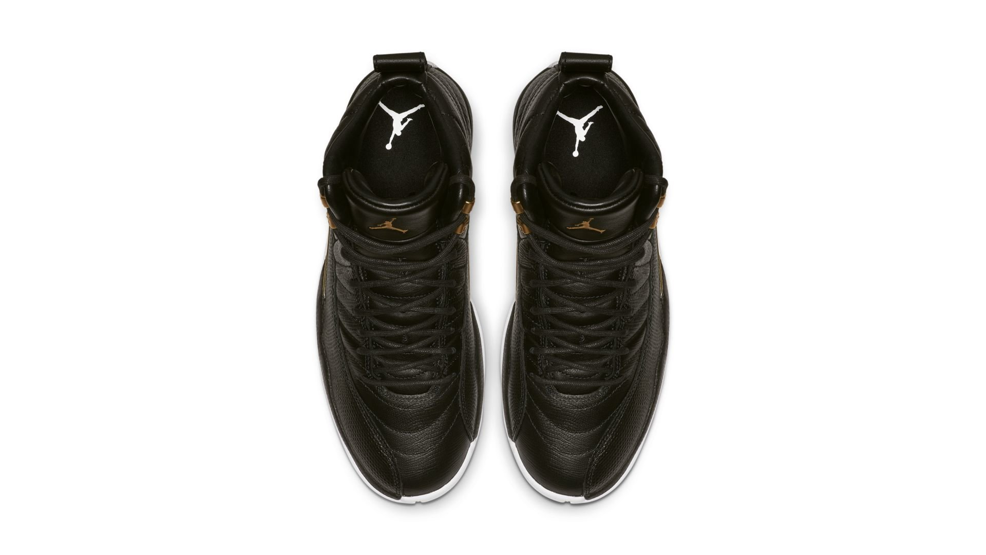 Jordan 12 Retro Black Metallic Gold White (W) (AO6068-007)