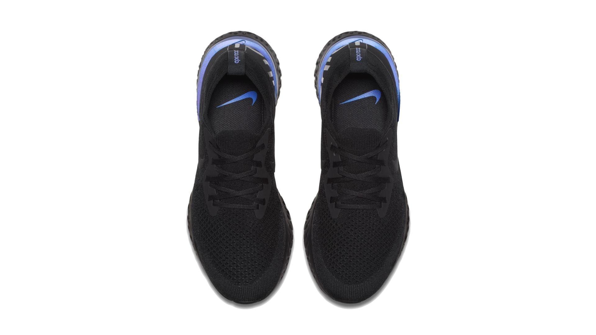 Nike Epic React Flyknit Black Racer Blue (W) (AQ0070-004)