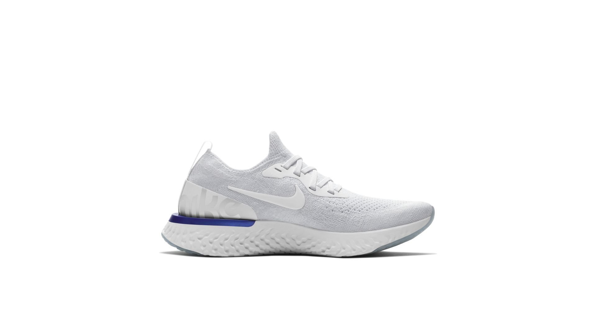 Nike Epic React Flyknit White Racer Blue (W) (AQ0070-100)