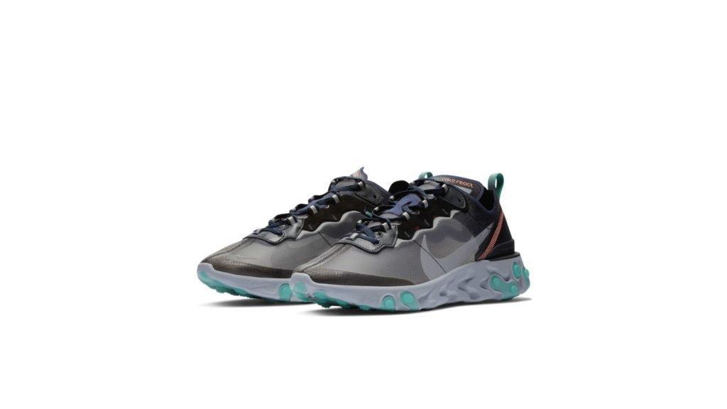 Nike React Element 87 Black Neptune Green