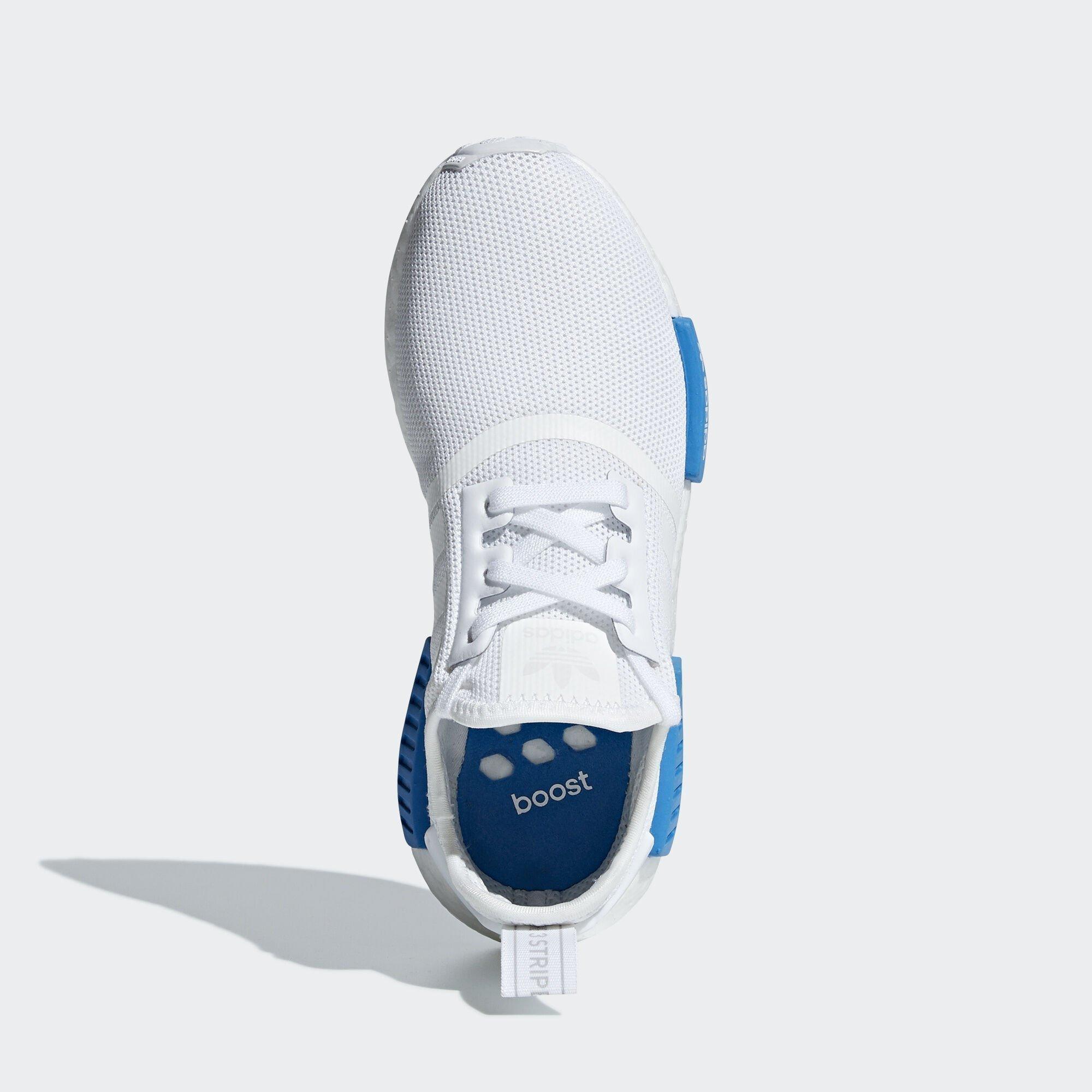 adidas  NMD R1 Cloud White Bright Blue (GS) (AQ1785)