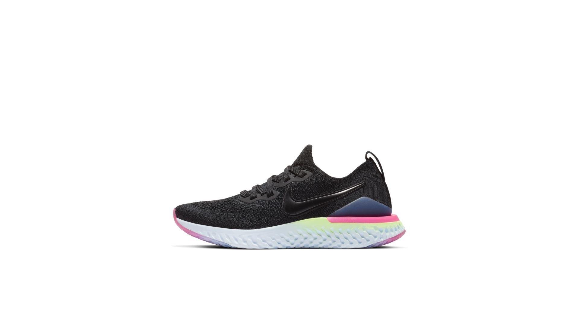 Nike Epic React Flyknit 2 Black Sapphire Hyper Pink (GS) (AQ3243-003)