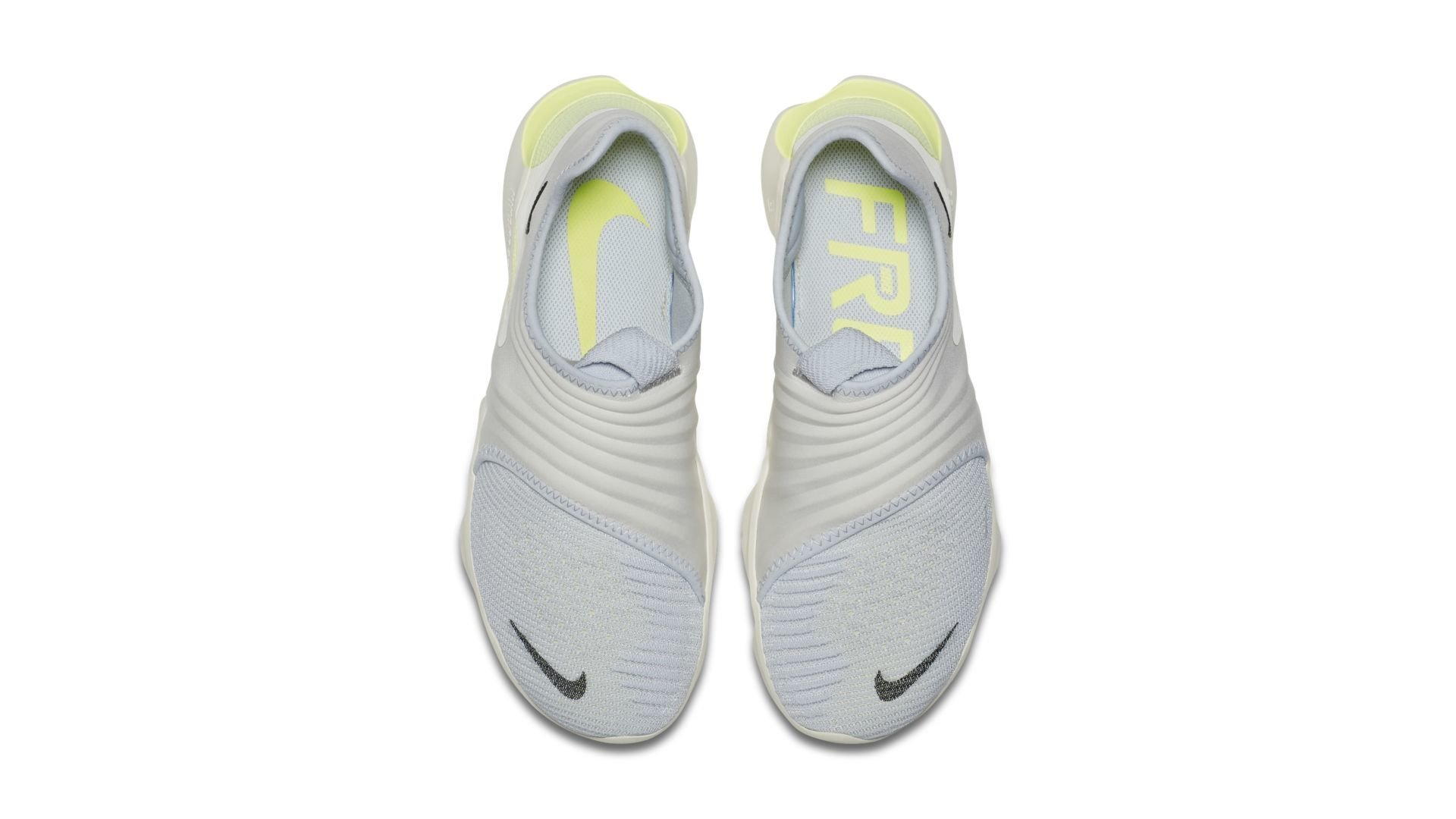 Nike Free RN Flyknit 3.0 Pure Platinum Luminous Green (AQ5707-004)